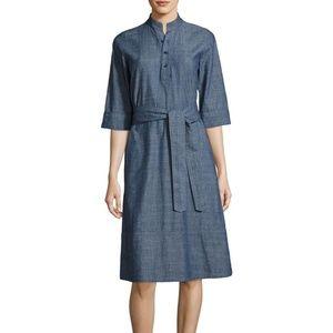 A.P.C. Indigo Chambray Denim Shirt Dress